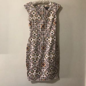 French Connection Patterned Sheath Dress. Sz 4
